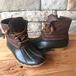 Girls Sperry Saltwater Duck Boots Size 13